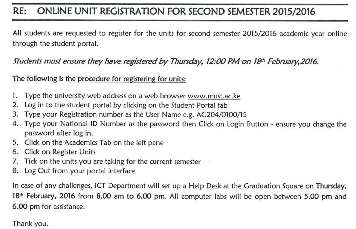 units registration