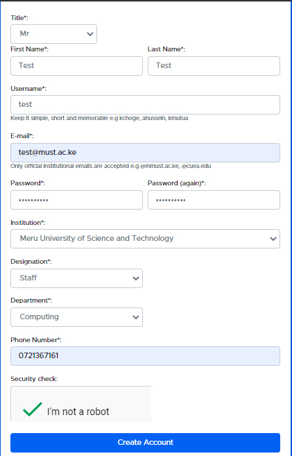 Procedure for Creating KENET Conference Account
